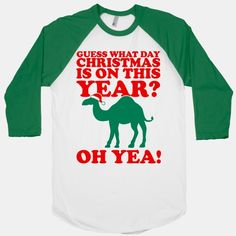 Guess What Day Christmas is on this Year? #christmas #holidays #winter #funny #humpday #wednesday #camel #awesome