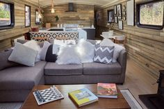 The Boathouse London by Katie Hanton of Ackroyd Lowrie | Interior architect and designer of 60ft wide beam canal barge | Houseboat Design