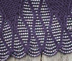 Knitting with beads on Pinterest