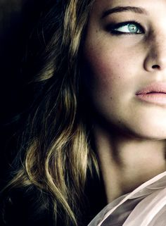 girl crushes, jennifer lawrence face, photography portraits, jennif lawrenc, beauti, green eyes, actresses, role models, natural beauty
