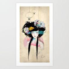Nenufar Girl Art Print by Ariana Perez - $17.00