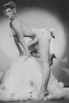 Burlesque Artist Irma the Body, 1947