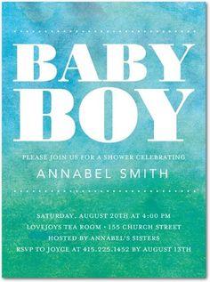 Warm Bliss: Bay - Baby Shower Invitations