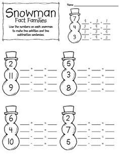 Snowmen Fact Families