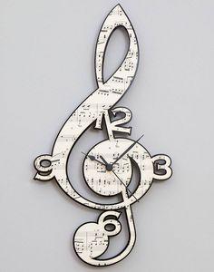 Vintage music clock with black behind