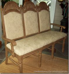 how to: Three unwanted chairs make a great bench!