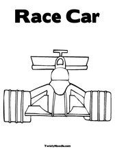 Race Car Coloring Pages... Customizable