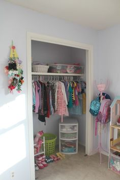 Closet doors are over-rated! Get rid of bi-folds and make a smaller room bigger!