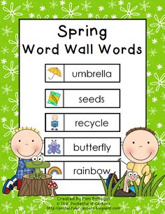 Spring Word Wall Words {Freebie}