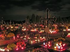 Absolutely Beautiful! A Candlelit cemetery on All Saint's Day, Poland