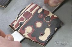 Learn how to make a mokume gane effect design in polymer clay, from Art Jewelry magazine.