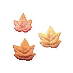 Fall Leaves Sugar Cupcake Toppers