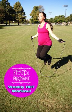 Great for athletic expecting ladies or for anyone! Weekly HIIT Workout for Pregnancy - Hot Mama Workout | Fit To Be Pregnant