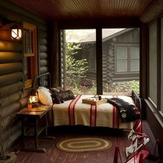 blanket, beds, sleeping porch, screen porch, log cabins, cabin bedrooms, hous, sleep porch, screened porches