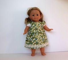 Dolls Dress in green Liberty of London Mitsi by TheDollsWardrobe, £12.00