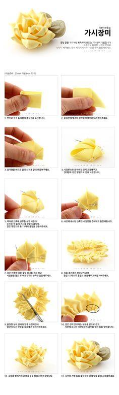 Make ribbon flowers