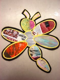 recycled dragon fly project for earth day