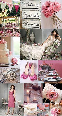 Pink shabby chic wedding..