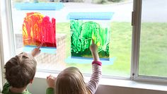 Super easy, mess free painting idea. Mess-Free Art: Stained Glass Window Painting | eHow Mom | eHow.com