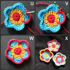 Five petalled flower pattern