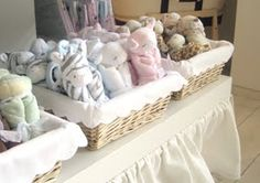 charming matching baskets for small soft toys