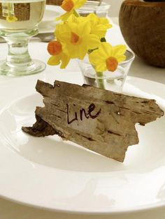 how easy are these place cards? #bark