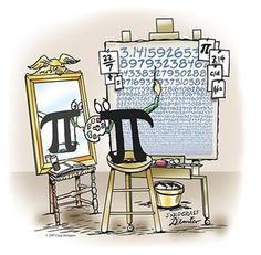 Math humor and cartoons inspired by Pi Day
