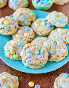 Soft and Chewy M&Ms Cookies - Easy, so soft & perfectly chewy thanks to help from a secret ingredient!