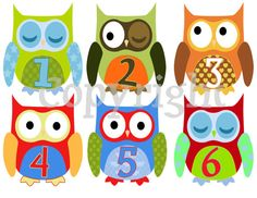 monthly baby onesie stickers owls!