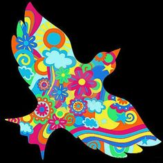 ☮ American Hippie Psychedelic Art Quotes ~ Peace Dove