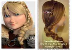 How to train your dragon 2, inspired braid tutorial http://www.princesshairstyles.com/2014/06/how-to-train-your-dragon-2-hairstyle.html
