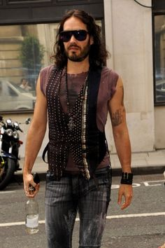 Russell Brand - Russell Brand Arrives at the BBC Radio Studios