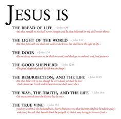 """Jesus is... john's """"I am's"""""""
