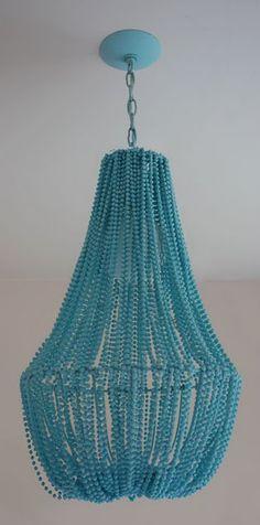 Tiffany Blue DIY chandelier