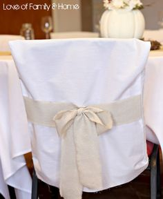 DIY chair covers... wish I was crafty enough to do this!!!