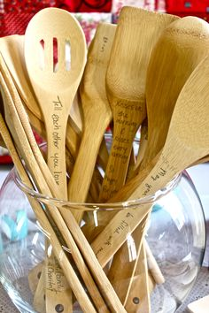 bridal shower marriage advice spoons// display reminders in the everyday places