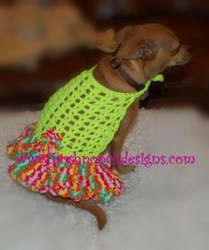 Halter Dog Dress with Flirty Skirt For Small Dogs