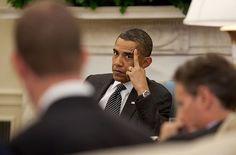 Obama flipping the bird