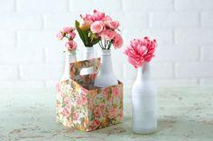 Floral Recycled Bottle Holder