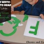 Play to Write-Write to Read: Week 9 Building Letters and DIY Chalkboard paper