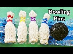 Rainbow Loom Charms: 3D Bowling Pins with loom bands | How to Make