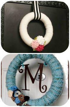yarn wreathes