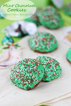 Mint-chocolate-muffin-top-cookies-recipe-roxanashomebaking