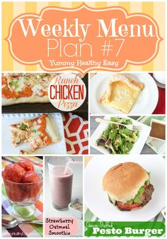 Weekly Menu Plan #7 - lots of easy dinner recipes on here to try | Yummy Healthy Easy #menuplan