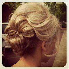 Pretty bridesmaids, chignons, wedding ideas, prom hair, wedding hairs, wedding photos, girl hairstyles, hair style, flowers