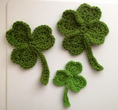 irish for a day shamrock crochet pattern