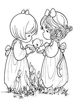 precious moments coloring pages cow - photo#20