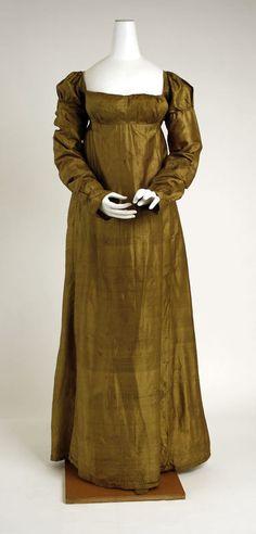 Dress, c. 1803. Empire/Regency era.