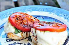 Caprese Grilled Chicken with Balsamic Reduction Recipe from addapinch.com