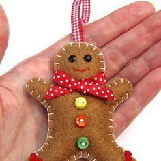 Christmas Creative: Christmas Decorations ~ Hatifers Hand Sewn Gifts gift, christma creativ, christmas decorations, christma decor, sewn ornament, hand sewn crafts, christma craft
